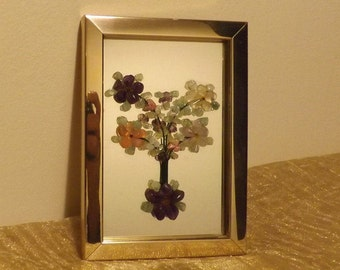 Small mirror covered with precious stones in gold metal brand ARTISANIA CANARIA