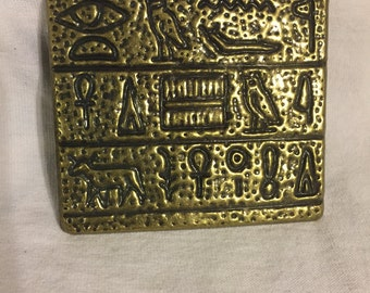 Gold Hieroglyphic Metal Decorative Piece--Buckle--Barrette  (#140)