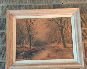 """Vintage Lithograph Print of Robert Woods Painting """"October Morn"""""""