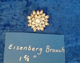 Rosenberg style sunburst brooch