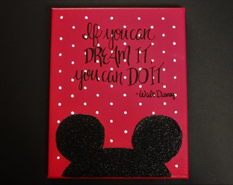 If You Can Dream It, You Can Do It. Walt Disney Mickey Mouse Canvas