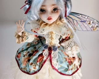 "Collectible Faerie Art Doll Ooak Monster High - ""Flora"""