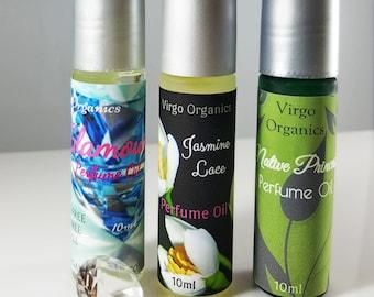 2 Set ~ Organic Perfume Oil  / Gluten Free  / ORGANIC / Alcohol Free / Many Choices!