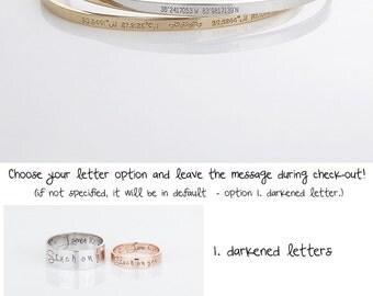 GPS Bracelet, Personalized Coordinates Bracelet, Latitude Longitude Jewelry, Rose Gold Bangle, Gift for Women, Mothers Day Gifts