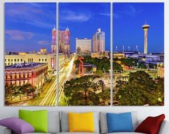 San Antonio Art Texas Cityscape San Antonio Canvas San Antonio Skyline Wall Decor San Antonio Photo San Antonio Print San Antonio Poster