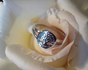 Tree of life ring silver-pagan wiccan wicca-pagan-jewelry-jewelry-Paganism-witch