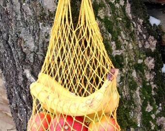 1970s Vintage Market Bags Soviet Bag Farmers Market Bag Shopping Bag Eco Bag string bag Natural bag Crochet bag mesh bag fruit bag Avoska