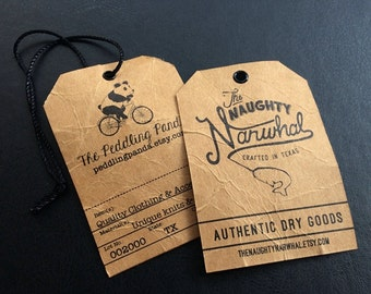 Custom distressed hang tags, antique hang tags, old fashioned hang tags