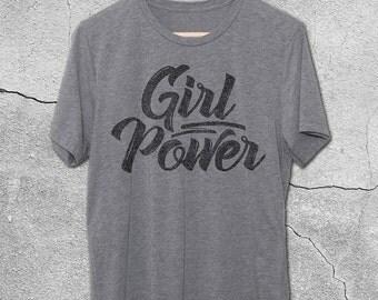Girl Power Tshirt - Feminist Shirt - Feminism T-Shirt - Girl Power Vintage Graphic Tee - Graphic Tees for Women - Graphic tee for teens