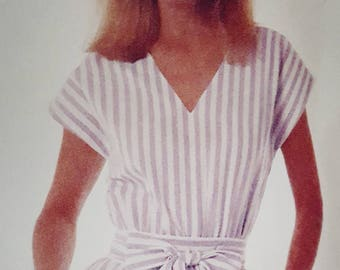 1986 McCall's Stitch n Save 2572 Belted Dress Size 16-20  Cut to 20 Complete Sewing Pattern Retro!