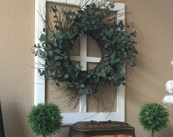 Faux French Window Frame, Slightly Distressed, Used For Home Decor