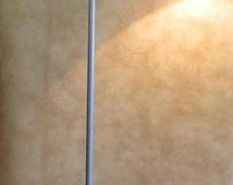 Unique Minimalist MCM  Industrial Gooseneck Floor Lamp with Triangular Cast Iron Base