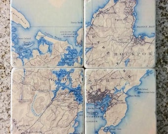 Vintage Custom Map Coasters