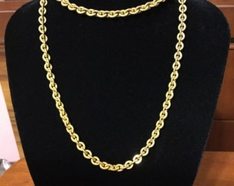 Mariam Haskell brass link chain