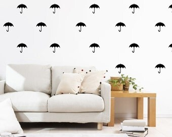 20 Umbrella Wall Stickers Nursery Decals Kids Room Stickers Pattern Removable Wall Decals