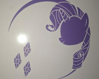 My Little Pony Friendship is Magic Rarity Silhouette Vinyl Decal