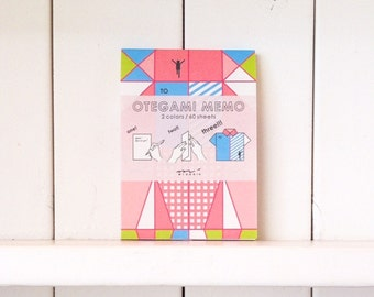 Japanese memo pad, Origami folding, Origami paper, Memo notepad, Cute Note pad, Midori stationery