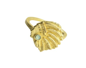 HEADDRESS MAN RING