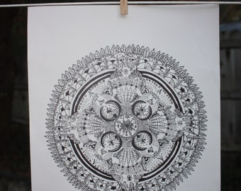Mandala Poster Wall Art Sacred Geometry Print