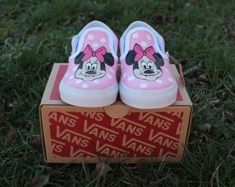 Minnie Mouse Toddler Custom Vans