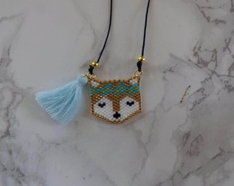 Beadwoven FLOWER POWER necklace