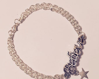 """Believe"" Star bracelet"