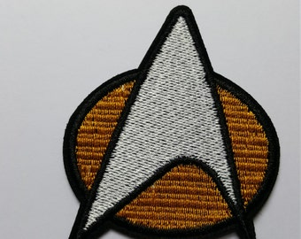Star Trek Comms Badge Iron On Patch Transfer