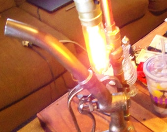 gas related, steampunk lamp