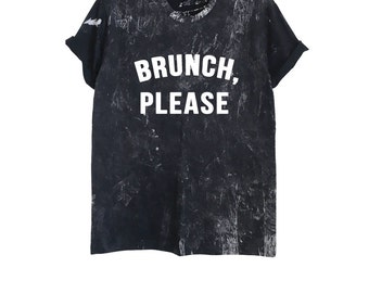 Brunch shirt women funny brunch shirts tshirt feminist t-shirt gift instagram aesthetic tee acid wash t shirt size XS S M L