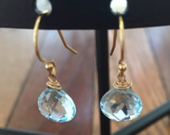 Sky blue topaz earrings