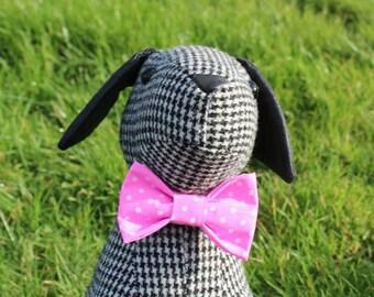 Gracie's Pink polkadot Bowtie