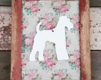 Hanging Handpainted Terrier Decoration, Terrier Ornament, Schnauzer, Airedale Terrier, Fox Terrier, Welsh Terrier, Terrier Lover Gift