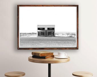 Prada Marfa, Black and White, Prada Print, Prada Marfa Print, Fashion Photography, PrintableArt, Fashion Print, Prada Wall Art, Home Decor