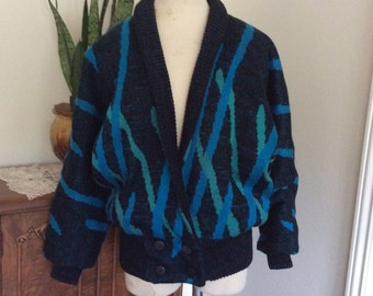 Vintage 1980's Alexandra Leigh By R.D Sweater Med/ Lg