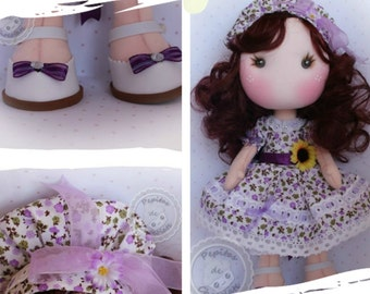 Patrón muñecas Pepita 35 cm. Pattern Pepita Doll 13''