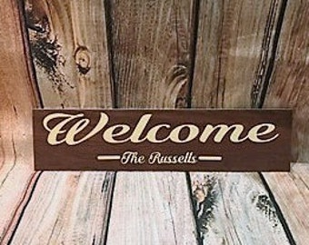 Tile Welcome Sign// Personalized Welcome Sign// Home Decor// Welcome// Wedding Gift// House Warming Gift// Engagement Gift