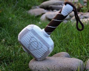 Crochet Pattern (PDF file) of Hammer of Thor (Amigurumi tutorial, crochet template)