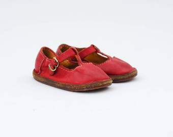 toddler red mary janes | toddler shoes flats | t strap baby shoes | leather vintage flats | toddler size 5
