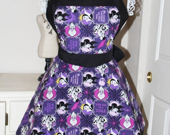 Disney Vicious Villains Apron (Sweetheart Neckline)