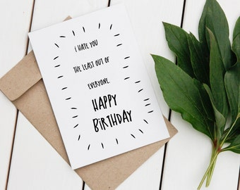 Rude Birthday Card | Funny Greeting Card | Happy Birthday Card | Printable Greeting Card | Digital Card | Birthday Card | Funny Card |