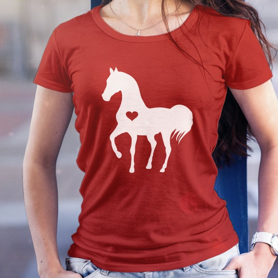 Heart horse shirt / horse tshirt / gift for horse lover / equestrian gifts / horse gifts  / horse clothing / horse birthday party / t-shirt