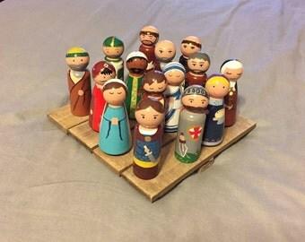 Custom peg doll; Saint or religious peg doll