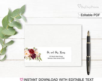 Wrap Around Address Labels, Address Labels Template, Printable Wraparound Address Labels, Match to #A024