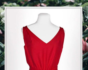 Flapper dress ' rose Rouge'