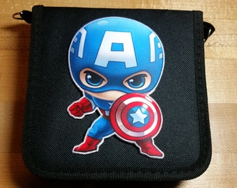 Captain America Marvel Avengers Superhero Inspired Trading Pin Bag (iheartpinbags.com)