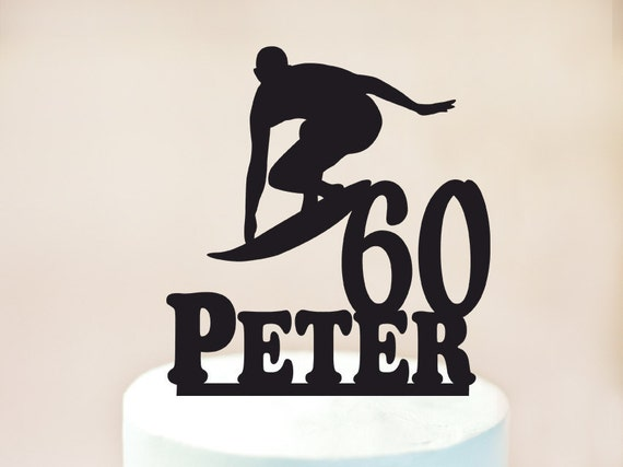 Surfing Cake TopperMale Surfer Cake TopperSurfing Birthday