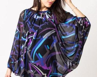 Fashion Printed Maternity Tunic - Plus Size Blouse - Plus size top - Oversize Blouse - Maternity Top - Sizes up to 8XL/EU 56