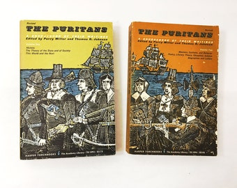 The American Puritans books. Edited by Perry Miller. 1963 printing.  Sourcebook of their writings.  Softcover book.