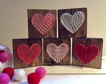 Mini Heart String Art Set, Valentine String Art, Heart String Art