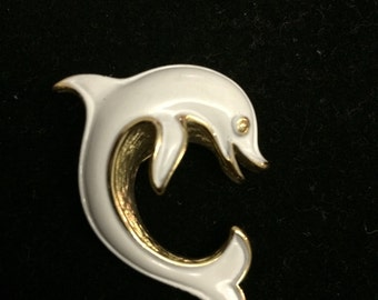 Crown Trifari Dolphin Brooch